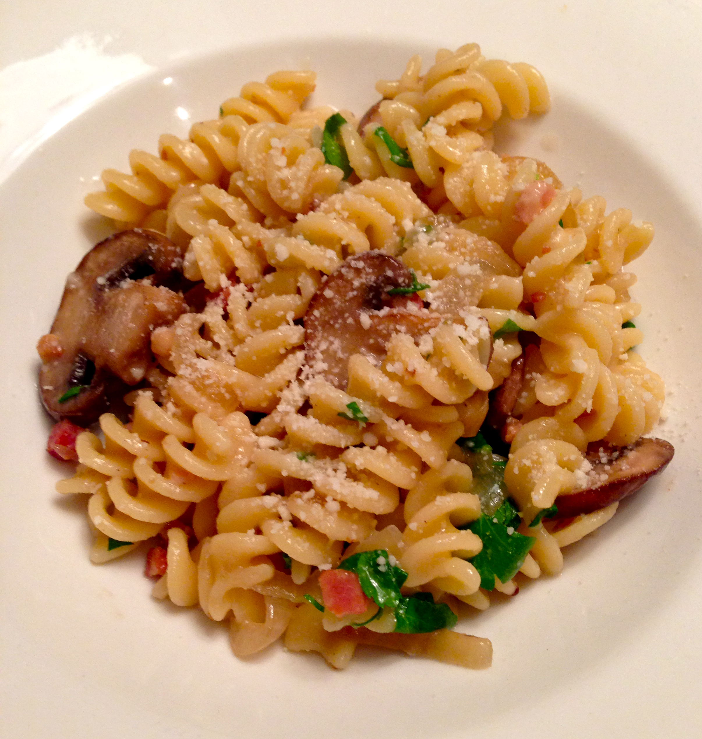 onions mushrooms fusilli with bacon onions fusilli with bacon onions ...
